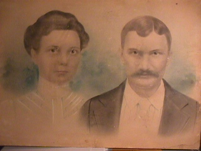 wedding picture for Howard Benjamin Smith and Josephine Maples from 1902