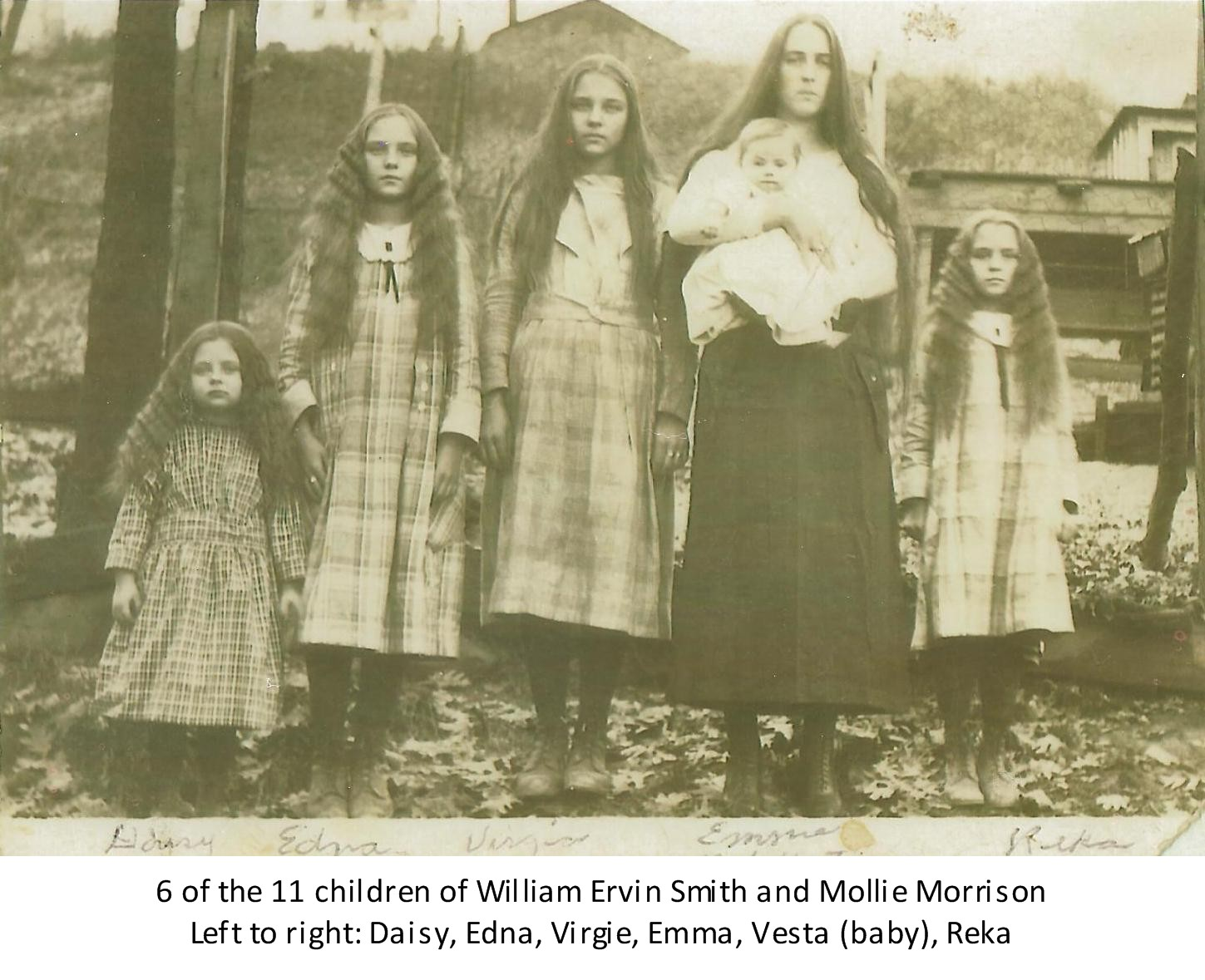 William Ervin Smith and Mollie Morrison Smith and children